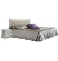Кровать 2-х спальная (1,6) с мягким элементом и подъёмным  механизмом без матраца